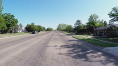 Driving Past Homes Small North Central Texas Town- Matador TX Stock Footage