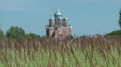 Russian ancient monastery (temple, church). Architecture of Russia.mp4 Stock Footage