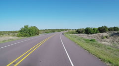 Viewpoint Driving Scenic Section Of North Central Texas Highway Stock Footage