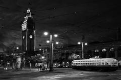 San Francisco Ferry Building with PCC streetcar Stock Photos