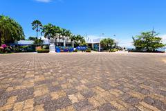 Front of Phuket Aquarium - stock photo