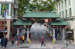 Stock Photo of Gateway Arch Chinatown in San Francisco California