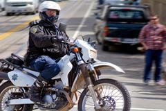 San Francisco - Police motorcycle Stock Photos