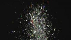 Glitter Exploding On Black Stock Footage