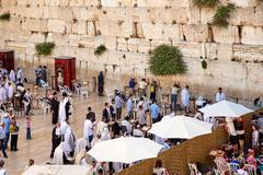 The Western Wall also known as Wailing Wall or Kotel in Jerusalem - stock photo
