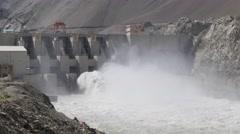 Nimoo Bazgo Hydroelectric Plant,Alchi,Ladakh,India Stock Footage