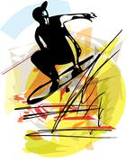 Stock Illustration of Sandboarding illustration
