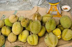 Durians - stock photo