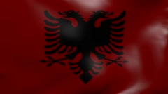 albania strong wind flag - stock footage