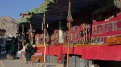 Souvenir stalls,Leh,Ladakh,India Stock Footage