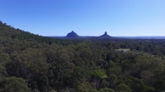 Glasshouse Mountains track Left Stock Footage