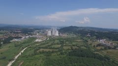 Thermal power plant a aerial footage Stock Footage