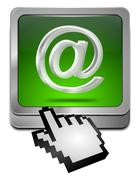 E-Mail Button with cursor Kuvituskuvat