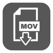 The MOV icon. Video file format symbol. Flat - stock illustration