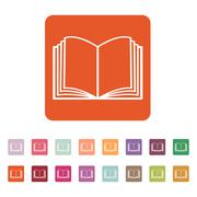 The open book icon. Manual and tutorial, instruction symbol. Flat - stock illustration