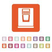 The coffee machine icon. Espresso and latte symbol. Flat - stock illustration