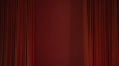 Cinema Curtains opening and closing Stock Footage