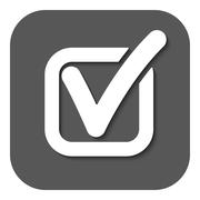 The check icon. Checkmark and checkbox, yes, voting symbol. Flat - stock illustration