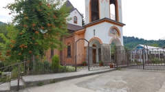 Lesnoe. Church of St. George. St. George Temple. Sochi, Russia. 1280x720 Stock Footage