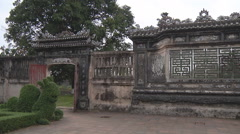 Gates and wall in Ho Chi Minh City, North Vietnam Stock Footage