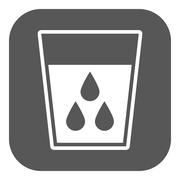 The liquid in glass icon. Water and drink, aqua symbol. Flat - stock illustration