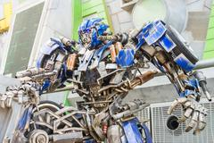 SINGAPORE - JULY 20 ,2015 : TRANSFORMERS The Ride: The Ultimate 3D Battle The Stock Photos