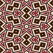 Seamless geometric pattern in red and brown Stock Illustration