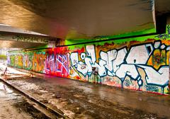 Graffitti Wall - stock photo
