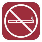 Stock Illustration of No smoke icon. Stop smoking symbol. Vector