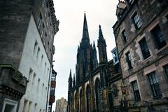 Stock Photo of Edinburgh city street