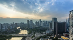 The Chinese city of chengdu in sichuan province - stock footage