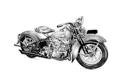Stock Illustration of Motor cycle llustration drawing isolated art