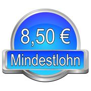 8,50 Euro minimum wage - in german Stock Photos