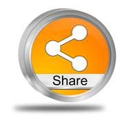 Share Button - stock photo