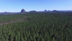 Glasshouse Mountains reverse track Stock Footage