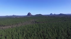 Glass house Mountains Left Track Stock Footage