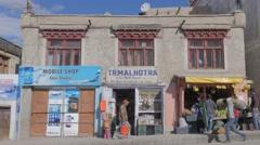 Fruit shop,Leh,Ladakh,India Stock Footage