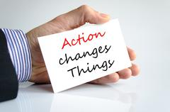 Action change things Text Concept Stock Photos