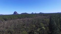 Glasshouse Mountains Right Hand Low Track Stock Footage