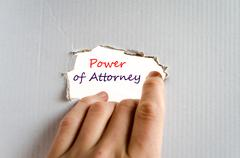 Power of attorney Text Concept Stock Photos