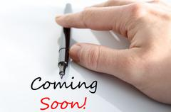 Stock Photo of Coming soon Text Concept