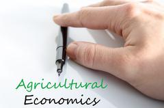 Stock Photo of Agricultural economics Text Concept