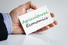Agricultural economics Text Concept - stock photo