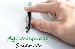 Agricultural science Text Concept - stock photo