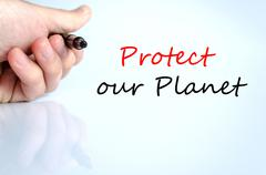 Protect our planet Text Concept - stock photo