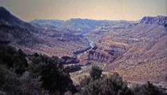 1972: Salt River Canyon water levels running low from drought. Stock Footage