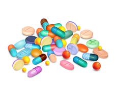 Stock Illustration of Pills Medical Realistic Composition