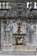 Rua Escura Fountain in Porto - stock photo