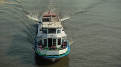River boat Stock Footage