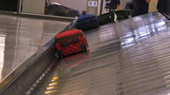 People Waiting For Bags at Baggage Claim, 4K Stock Footage